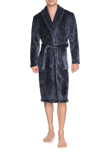 Grijsblauwe badjas