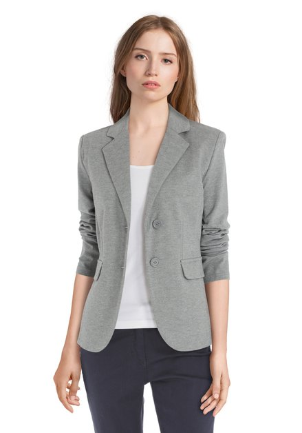 Grijze blazer in stretch