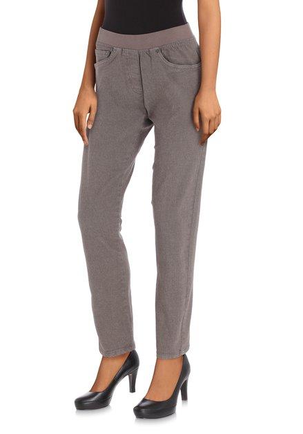 Grijze jeans met elastische taille - slim fit -L30