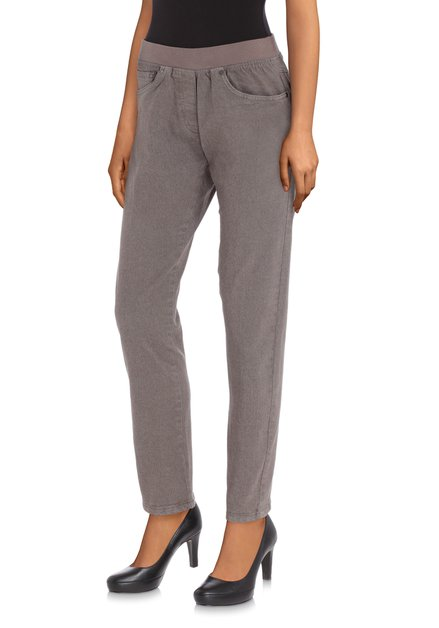 Grijze jeans met elastische taille - slim fit -L32