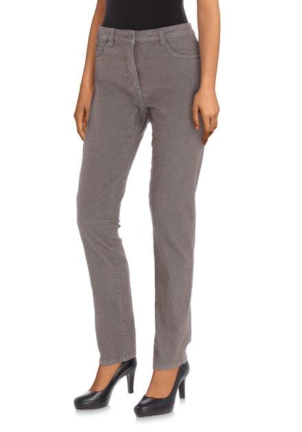 Grijze jeans met hoge taille - slim fit - L30