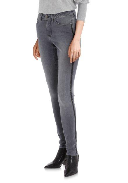 Grijze jeans met strass – slim fit