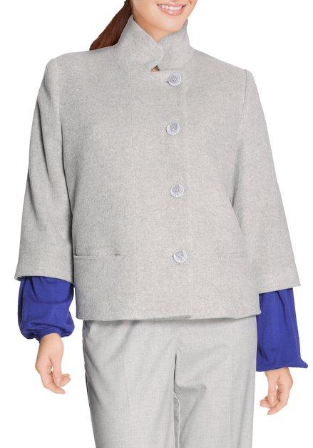 Grijze korte vest met wol