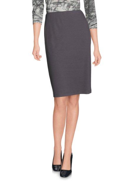 Grijze rok met elastische tailleband