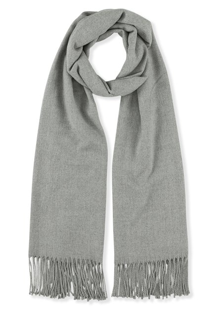 Grijze sjaal met kasjmierwol