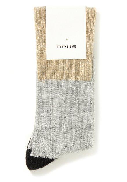 Grijze sokken met colorblocking
