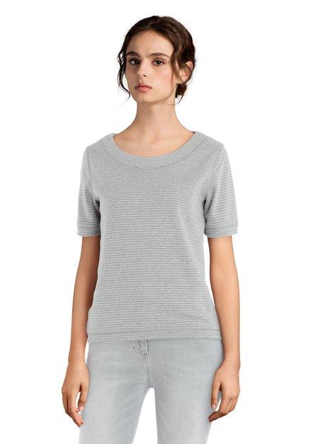 Grijze T-shirt met lurex
