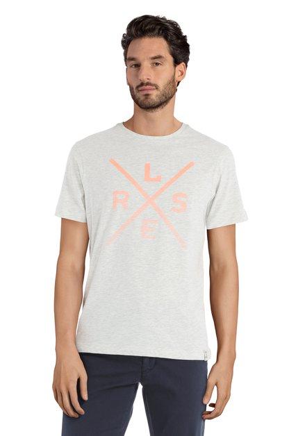 GrijzeT-shirt met print en ronde hals