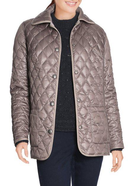 Grijze/taupe omkeerbare  gematelasseerde jas