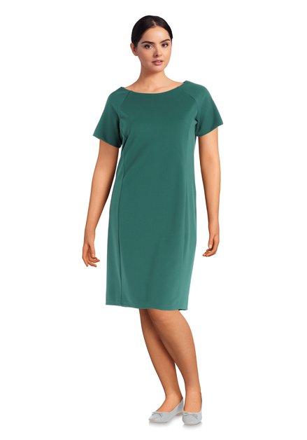 Groen gecentreerd kleed met korte mouwen