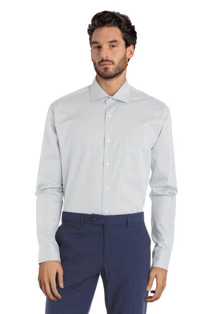 Groen hemd met miniprint – Claudio - comfort fit