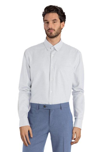 Groen hemd met miniprint – Clement - comfort fit