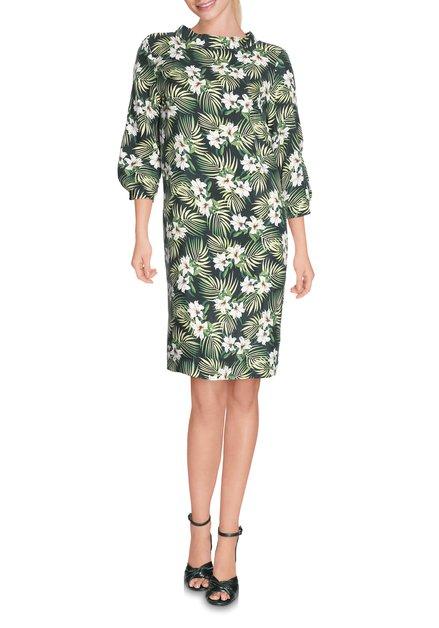 Groen kleed met florale print