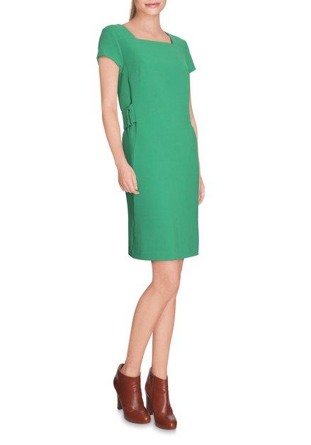 Groen kleed met taillelus