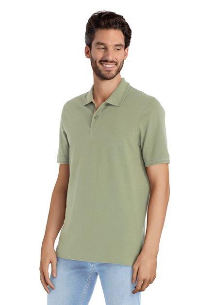 Groen polo met korte mouwen