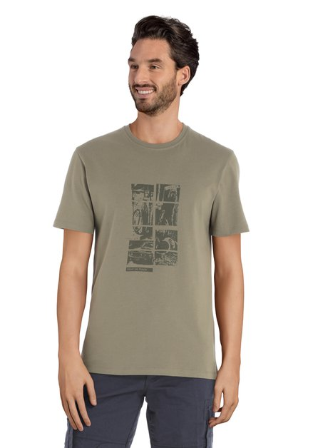 Groen T-shirt met donkere print