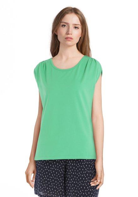 Groen T-shirt met ronde hals