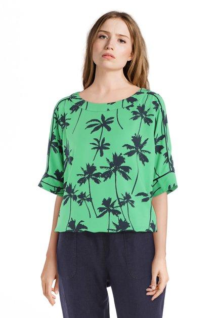 Groene blouse met palmbomen