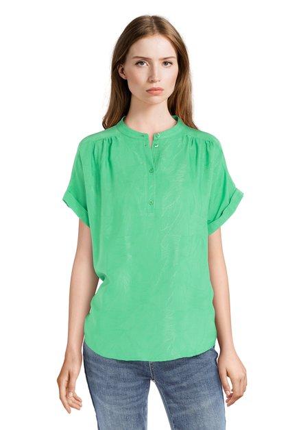 Groene blouse met subtiele print