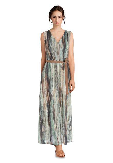8693232eca875c Groene maxi-jurk met lurex