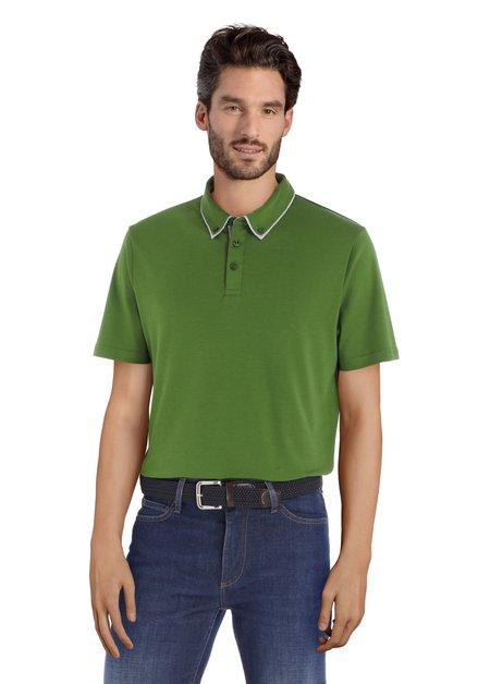 Groene polo met korte mouwen