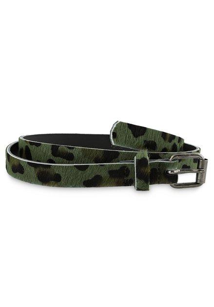 Groene riem met leopardprint