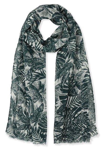 Groene sjaal met jungleprint