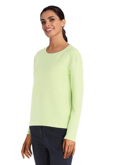 Groene T-shirt met lange mouwen