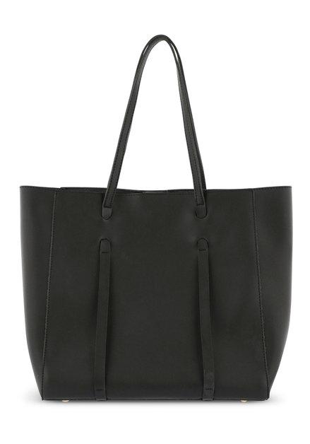 Grote zwarte handtas met klein exemplaar