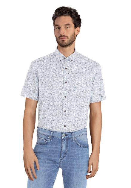 Hemd met blauw bloemenmotief - Ramiz – regular fit