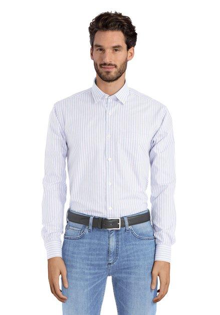 Hemd met blauw en rode strepen – regular fit