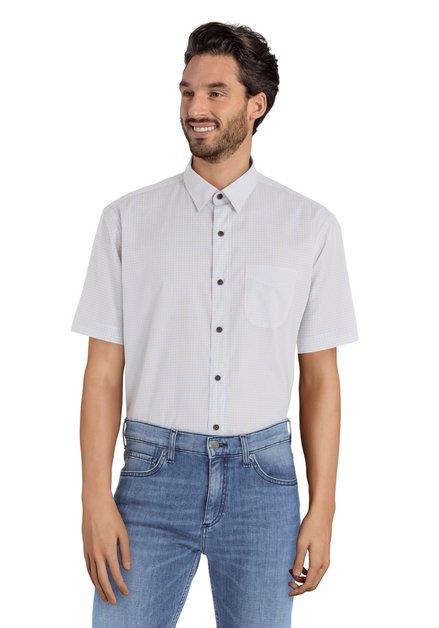 Hemd met blauw-geel motief - Ramos- regular fit