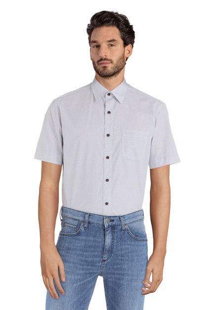 Hemd met blauw minimotief - Ramos – regular fit