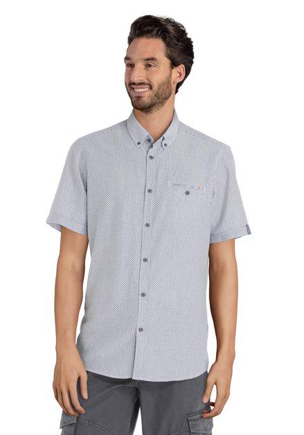 Hemd met blauw motief - modern fit