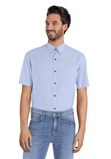 Hemd met blauw motief- Ramos – regular fit