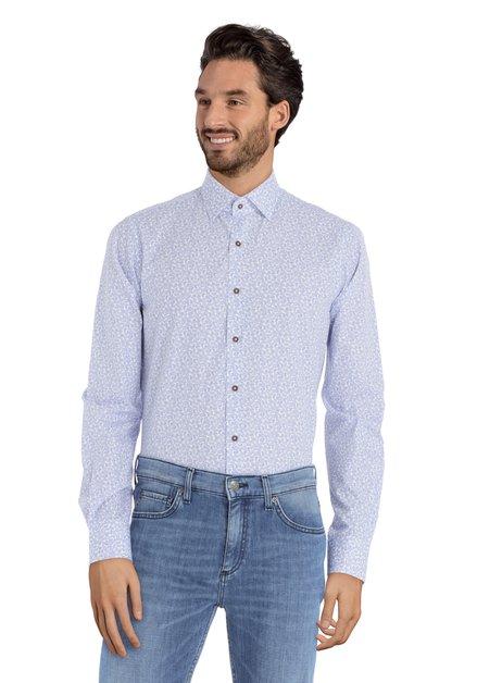 Hemd met blauw Paisleymotief – slim fit