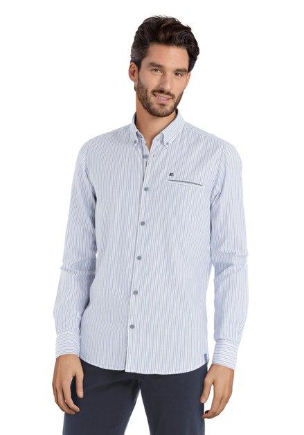 Hemd met blauwe en zwarte strepen - modern fit
