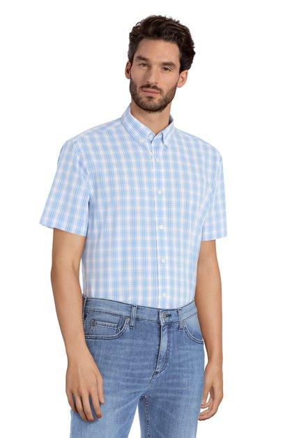Hemd met blauwe ruiten - Serkan – slender fit