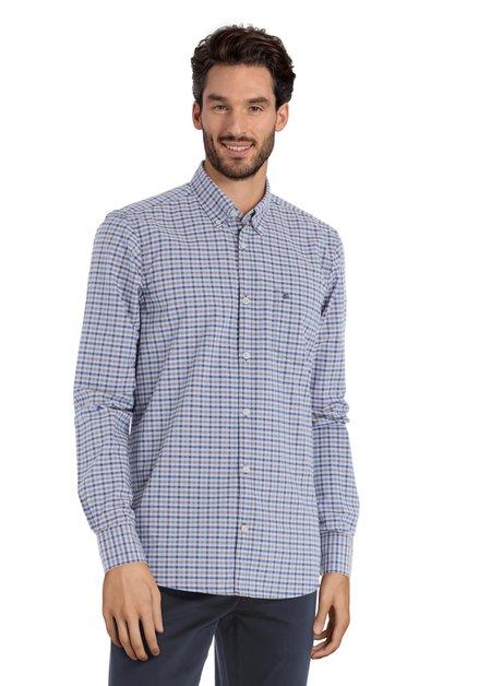 Hemd met blauwe ruitjes - modern fit