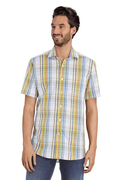 Hemd met groen-blauwe ruiten - Ramiz – regular fit