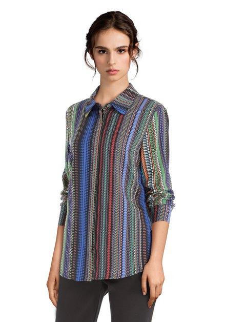 Hemd met kleurrijk streepjeseffect