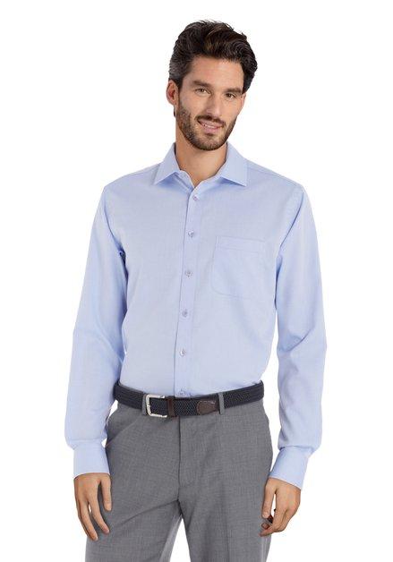 Hemd met lichtblauwe print - regular fit