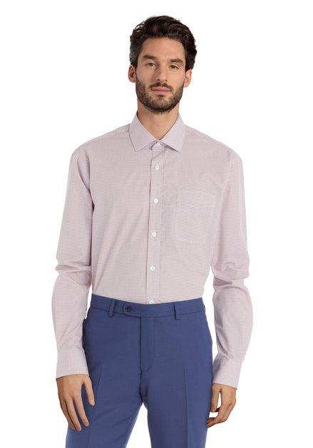 Hemd met rode miniprint – Charlie – comfort fit