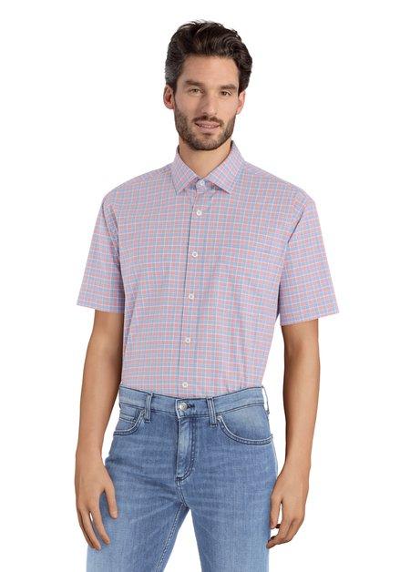 Hemd met rood-blauw ruiten - Corneel – comfort fit