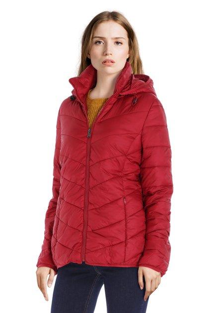 Imperméable rouge léger avec capuche amovible