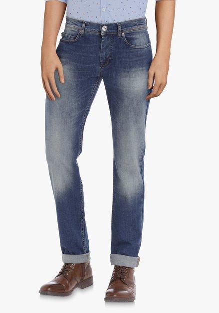 Jean bleu foncé délavé - coupe slim