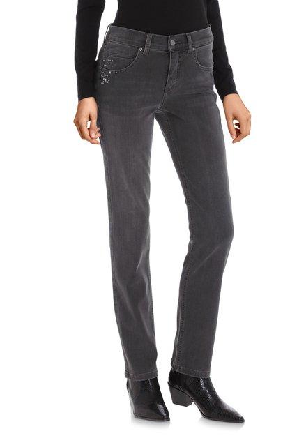 Jeans anthracite avec strass – regular fit