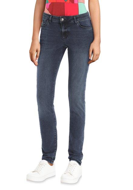 Jeans bleu foncé délavé