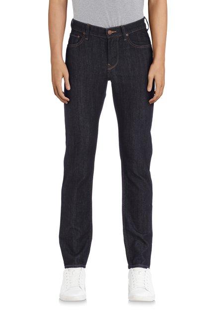 Jeans bleu foncé uni - Rider - slim fit - L34