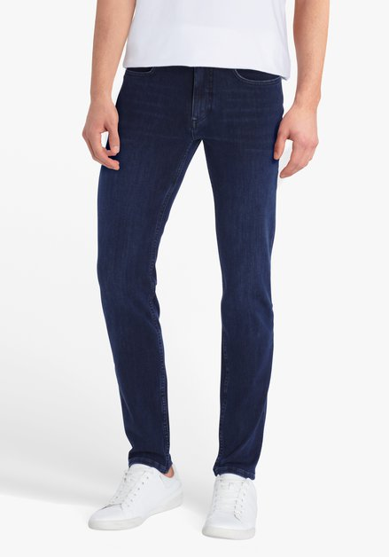 Jeans bleu marine stretch - Lars – slim fit - L34